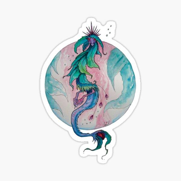 Blooming Tea Witch Dragon - sticker Sticker