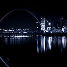 Newcastle Quayside on a Winter's Evening by Anita Charlton L.R.P.S.