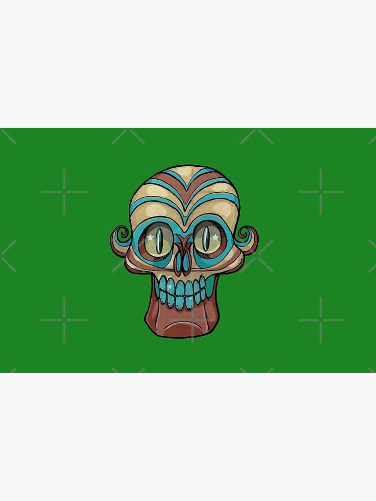 day dead happy skeleton head by duxpavlic