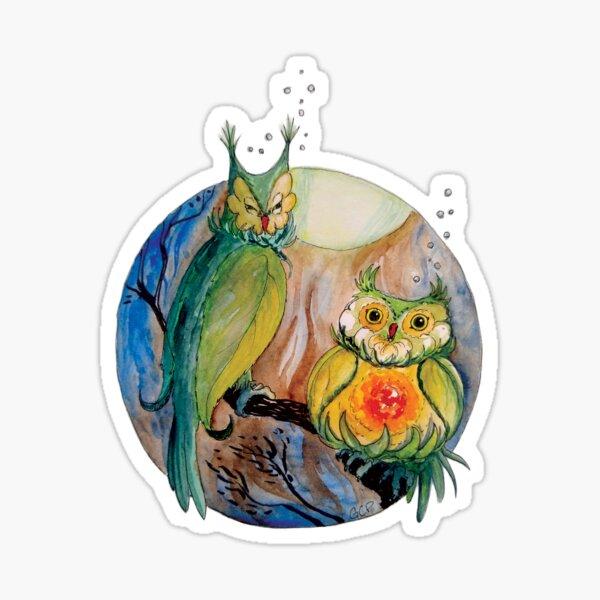Blooming Tea... Owls? - sticker Sticker
