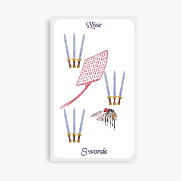 Nine of Swords Canvas Print