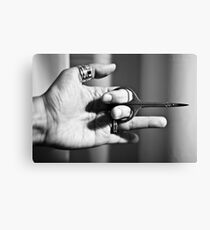 Cut my nails Canvas Print
