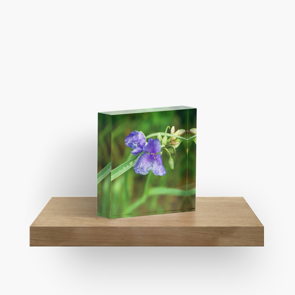 Purple Flower Acrylic Block