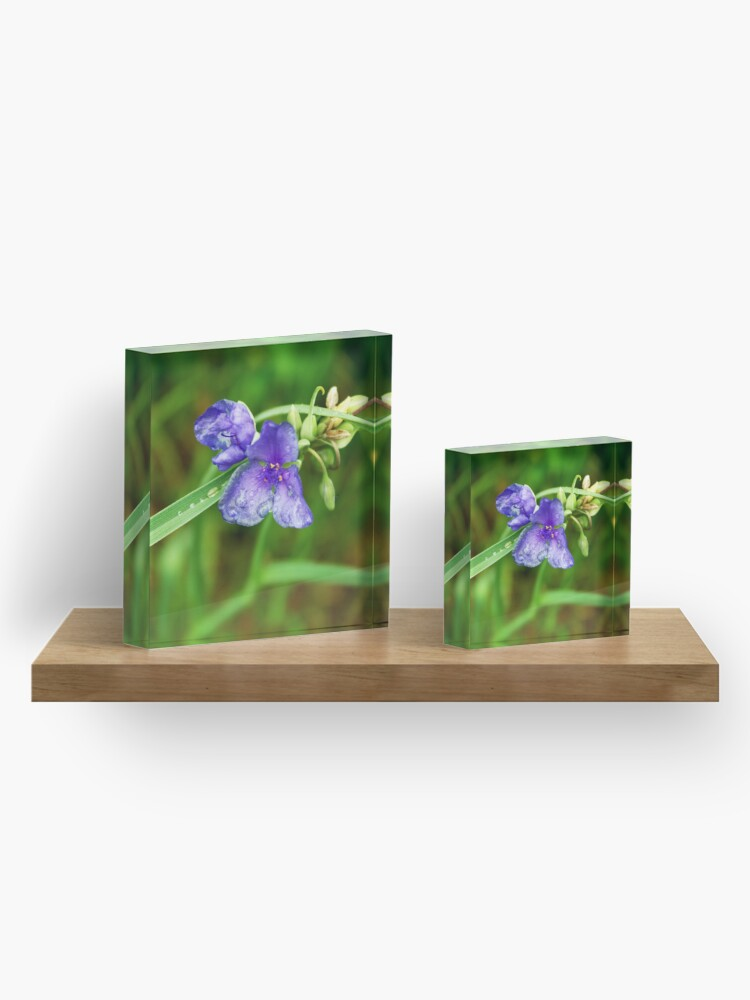 Alternate view of Purple Flower Acrylic Block