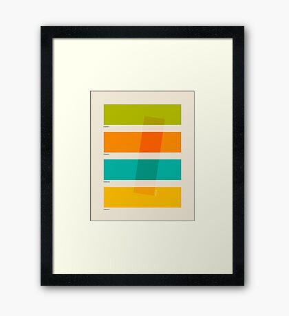 COLOR BURN 2 Framed Print