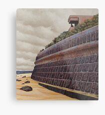 Sea-wall (study), Oil on Linen, 45x40.5cm. Metal Print