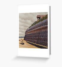 Sea-wall (study), Oil on Linen, 45x40.5cm. Greeting Card