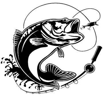 Largemouth Bass Action by thatstickerguy