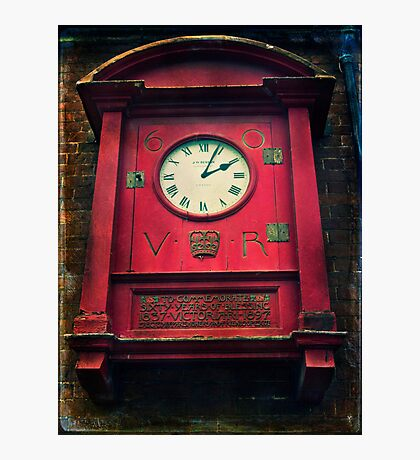 The Old Post Office Clock Photographic Print