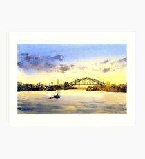 Sydney Harbour Sunset Art Print