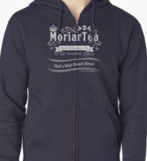 MoriarTea 2014 Edition (white) Zipped Hoodie