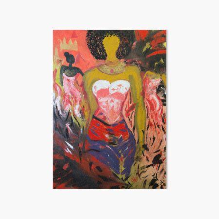 Girl On Fire #2 Art Board Print