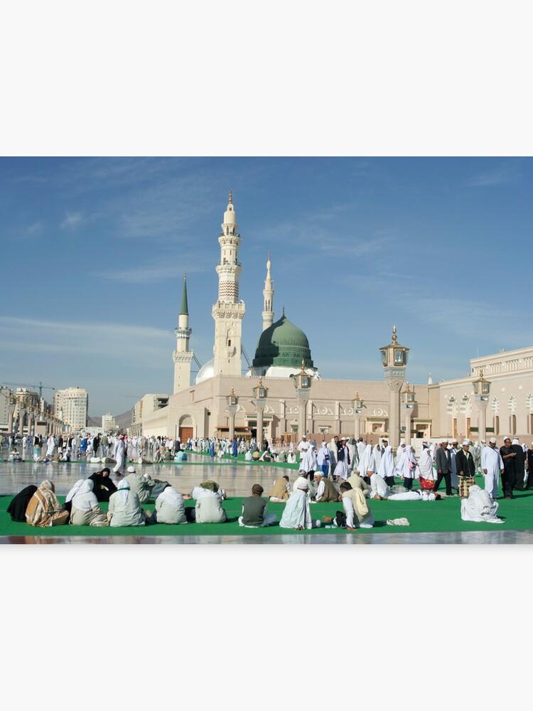 Nabawi mosque in Medina, Saudi Arabia  | Canvas Print