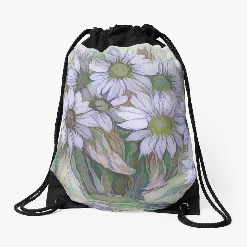 Blumendekor von OLena Art Turnbeutel