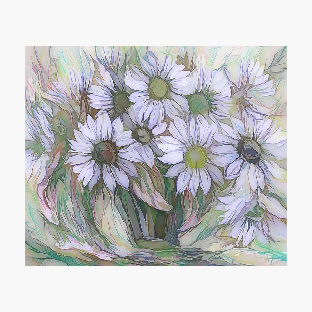 Blumendekor von OLena Art Fotodruck