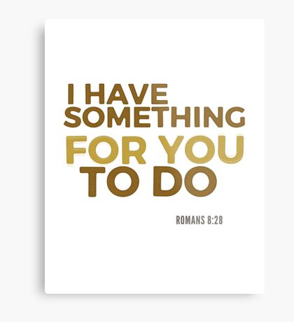 I have something for you - Romans 8:28 Metal Print