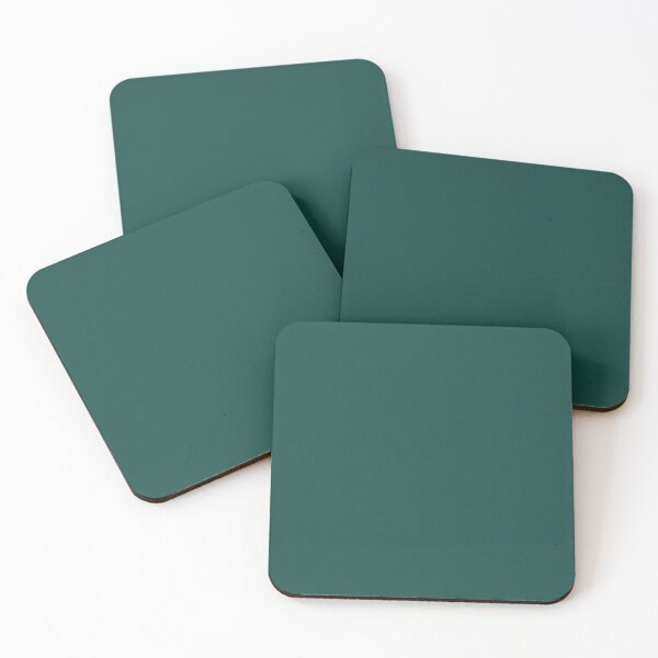Forest Biome 19-5230 TCX | Pantone | Color Trends | London | Fall Winter 2019 2020 | Solid Colors | Fashion Colors | Coasters (Set of 4)