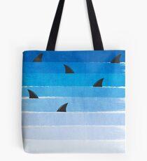 Bolsa de tela Tiburones - tiburón semana moda blanco y negro modelo de niños mínimo impresión ombre océano azul surf