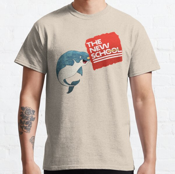 THE NEW SCHOOL- Narwhal Logo Classic T-Shirt