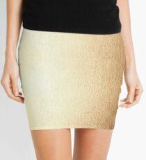 Simply Golden Copper Sun Solid Mini Skirt