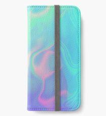 Vinilo o funda para iPhone Iridiscencia holográfica del mar del arco iris