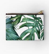Klassischer grüner tropischer Monstera-Dschungel-Palmblatt-Druck Studio Clutch