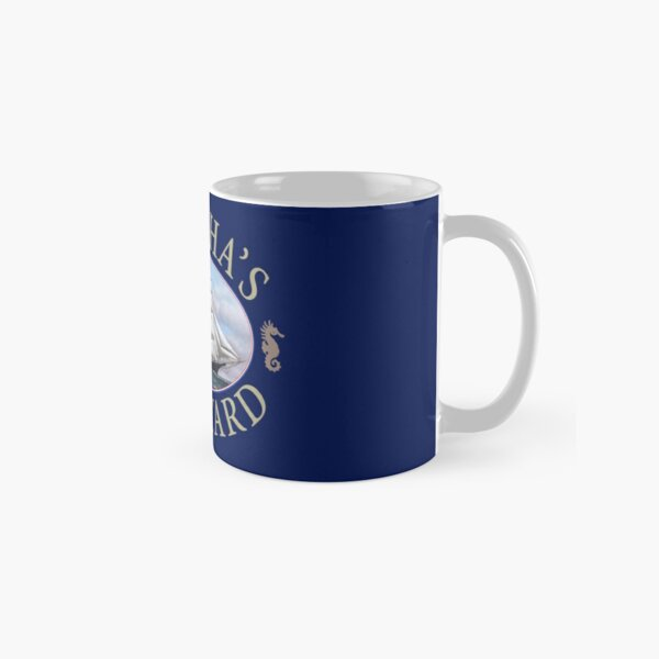 Martha's Vineyard Massachusetts Nautical Design Classic Mug