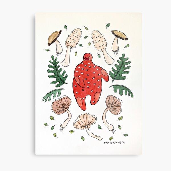 The language between mushrooms and trees. Metal Print