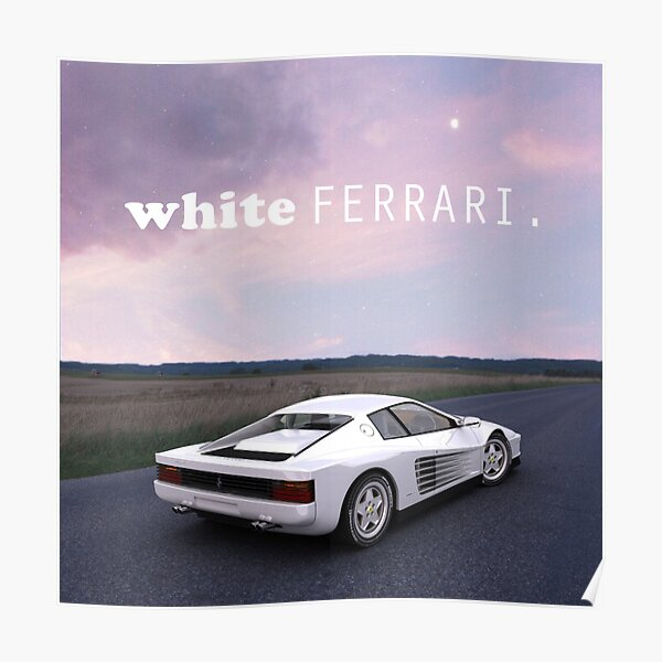 Ferrari Frank Frank Ocean Art blanc Poster