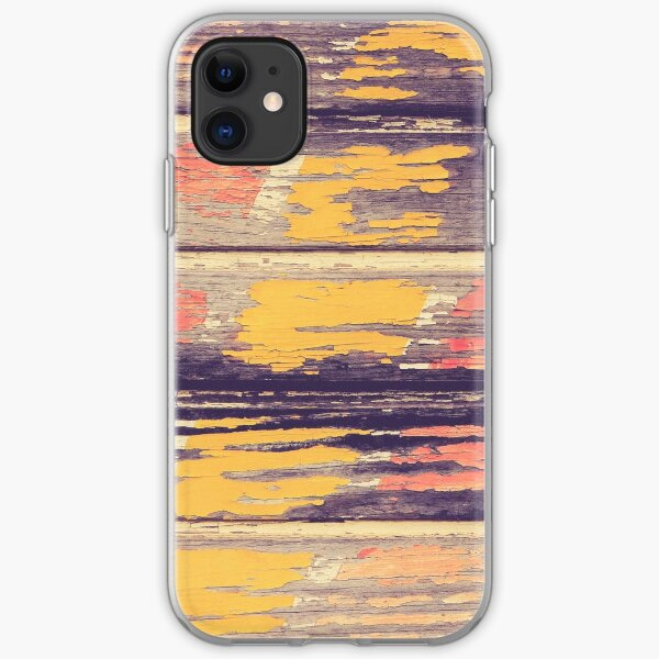 Weathered Painted Wood Wall iPhone Soft Case