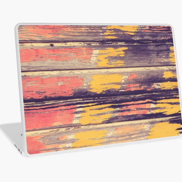 Weathered Painted Wood Wall Laptop Skin