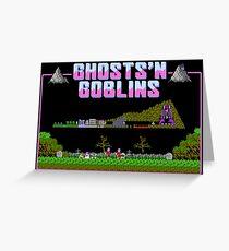 Ghosts n Goblins  Greeting Card