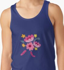 Soft and Pretty Pink and Mint Green Floral Tank Top