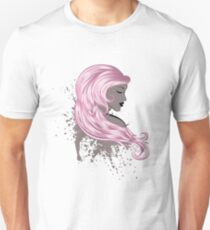 Woman with Long Hair3 Unisex T-Shirt