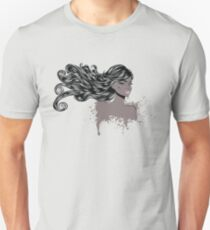 Woman with Long Hair4 Unisex T-Shirt