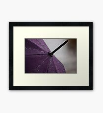 Purple Umbrella Framed Print