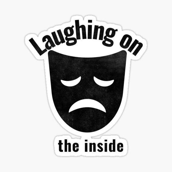 Depression Depressed Laughing on the inside Emoji Jack Lotus Faces Skull Turtle Buddah Sticker