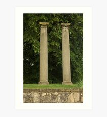 Columns at old Springfield Outdoor Concert Hall Art Print