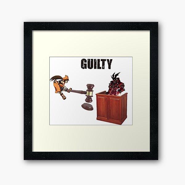 Guiltiest Gear Framed Art Print