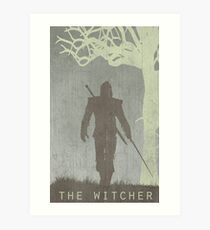 The Witcher Game Poster Art Print