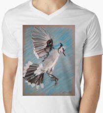 """Blue Jay"" Men's V-Neck T-Shirt"