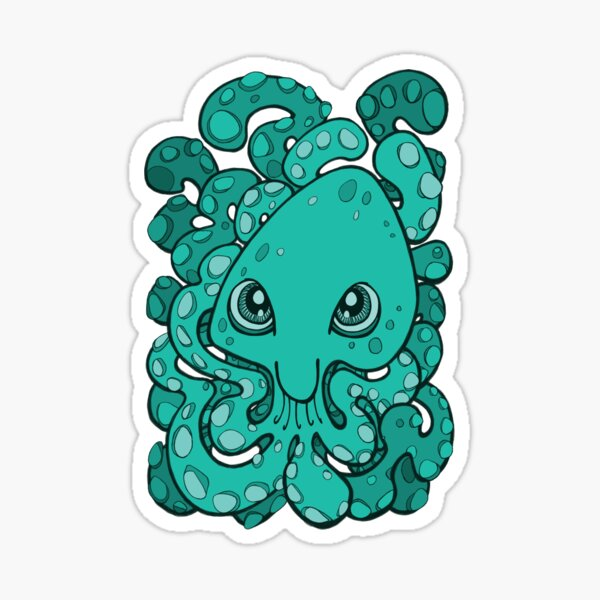 Happy Octopus Squid Kraken Cthulhu Sea Creature - Arcadia Sticker