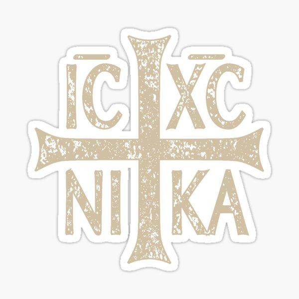 IC XC NI KA Christogram Cross Orthodox Christian Graphic Sticker