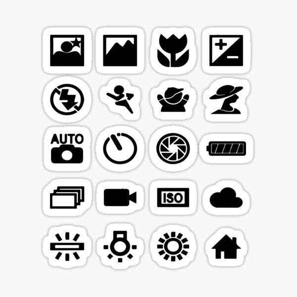photographer symbols Sticker