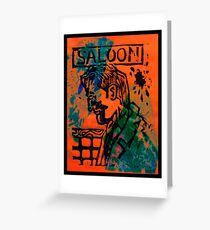 SALOON Greeting Card