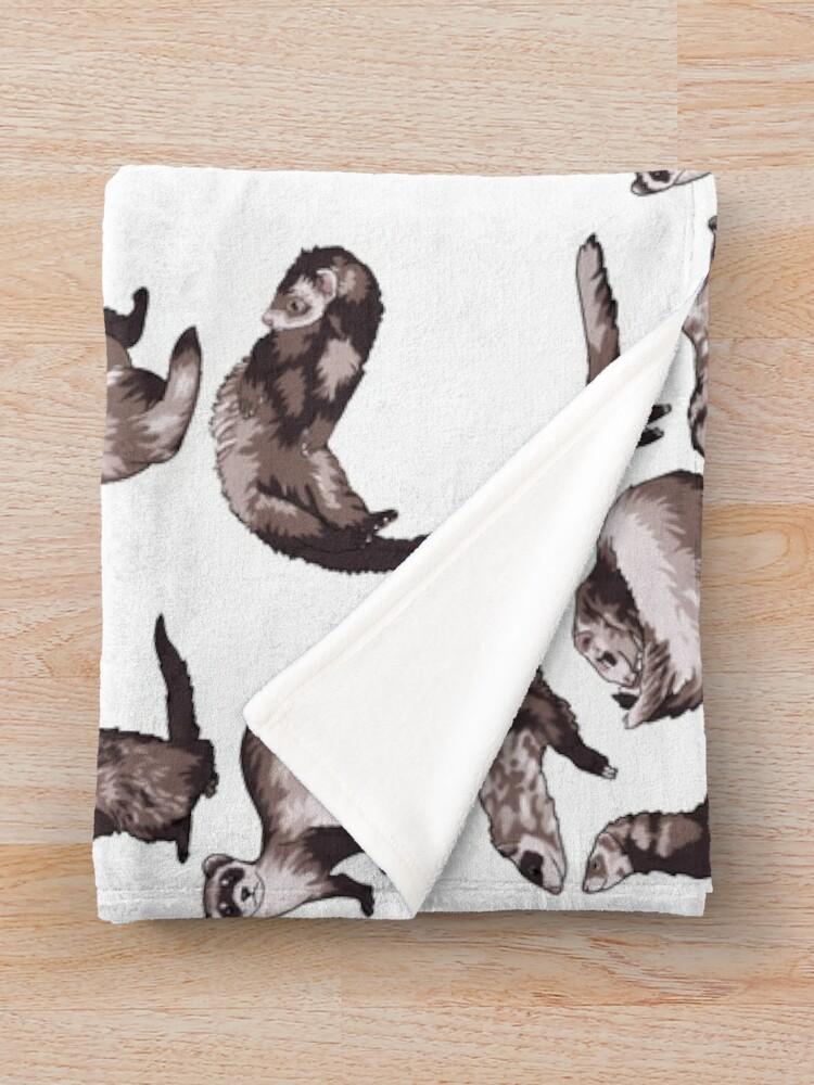 Alternate view of ferrets Throw Blanket