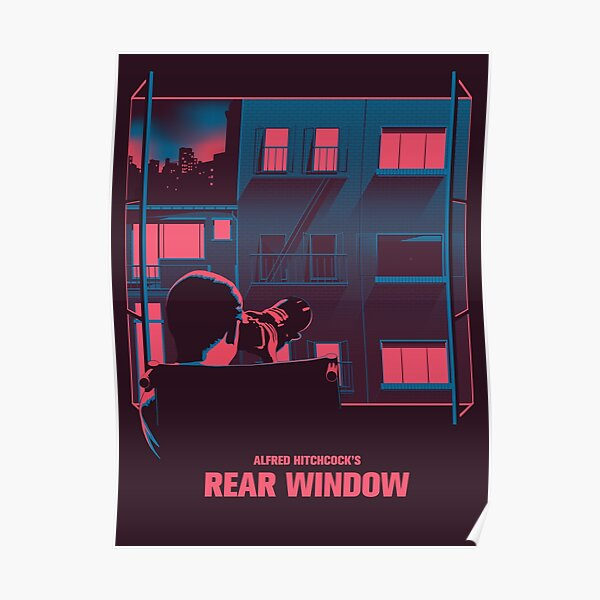 Alfred Hitchcock - Rear Window Poster