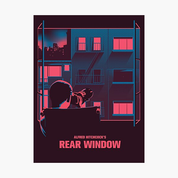 Alfred Hitchcock - Rear Window Photographic Print