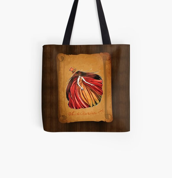Who is the Mad Hatter ? Red Riding Hood All Over Print Tote Bag