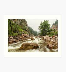South St Vrain Canyon Boulder County Colorado Art Print
